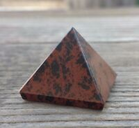 Natural Mahogany Obsidian Medium Gemstone Pyramid 27-30mm