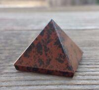Natural Mahogany Obsidian Medium Gemstone Pyramid 27-30mm