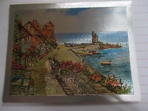 Vintage Foil Dufex Print Topper Jetty At Lynmouth Chelmsford United Kingdom