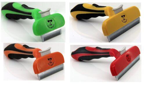 Dog Brush Pet Dog Short Or Long Hair Brush DeShedding Comb Tool Grooming Rake BM