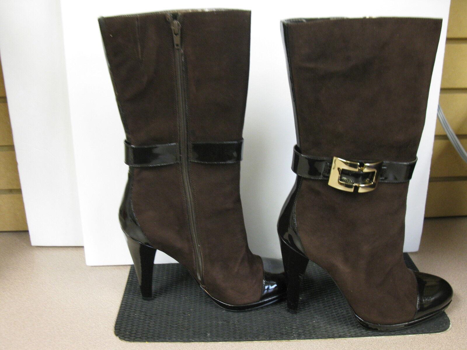 INC International Concepts dark coco boots. size 10