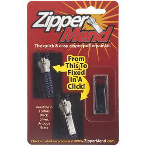 zipper mend black silver or antique brass zipper pull repair kit new
