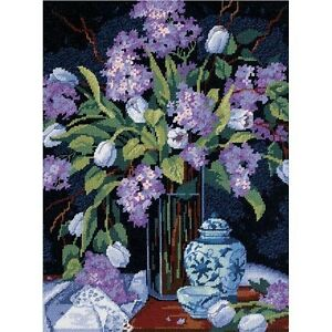 Dimensions Tulips & Lilacs Needlepoint Kit - 390812