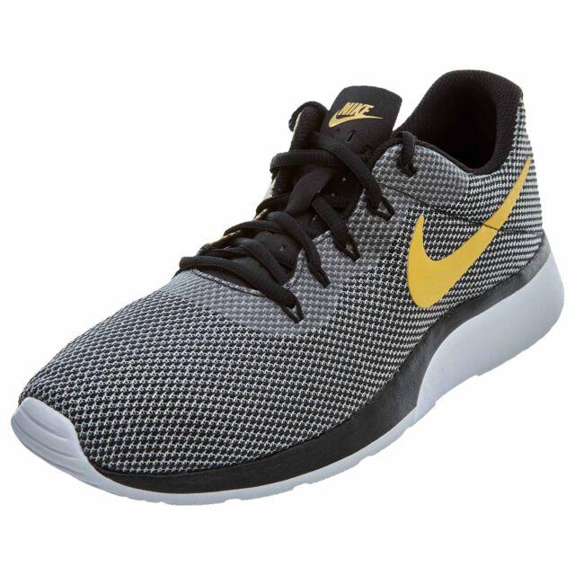 1f55facff022 Nike Tanjun Racer Mens 921669-009 Black Wheat Gold White Running ...