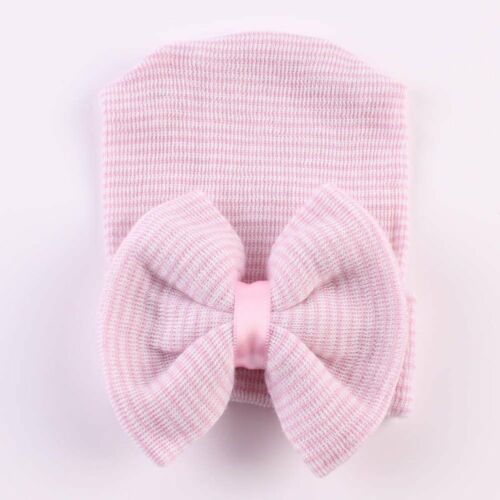 Newborn Baby Girls Toddler Cotton Hospital Cap Infant Comfy Bowknot Beanie Hat