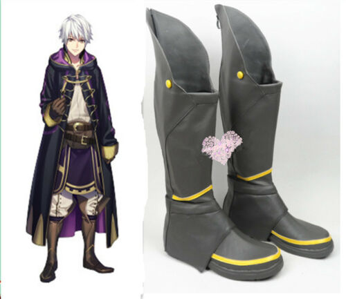Awakening Robin Cosplay Shoes Boots Custom made A.663 New Fire Emblem