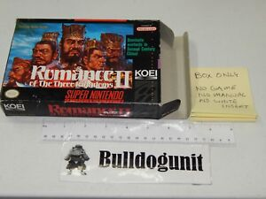 Details about Authentic Romance of the Three Kingdoms II SNES Box Only NO  Game Super Nintendo