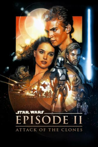 - 11x17 13x19 Star Wars: Episode 2 II Attack of The Clones Movie Poster 2002