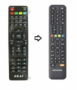 2094 TELECOMANDO COMPATIBILE (NON ORIGINALE) PER AKAI AK TV 3221 SMART