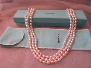 a0b870347 Image is loading Tiffany-amp-Co-Iridesse-Triple-Strand-Pearl-Necklace-