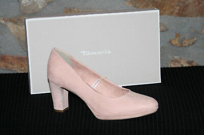 TAMARIS @ Damen Pumps @ Dirndl Schuhe @ Tracht @ rose @ Wildleder Art @ 37 43 | eBay