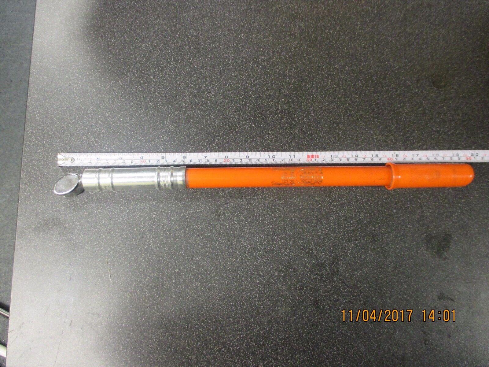 Vintage Silca Impero orange pump w  plastic head,48.5, VGC, Head is NOS