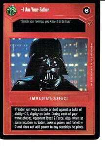 kaartspellen Losse kaarten spellen STAR WARS CCG CLOUD CITY BLACK BORDER DARK SIDE RARE I HAD NO CHOICE