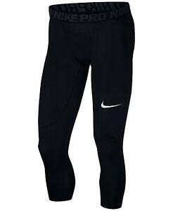 Nike-Men-039-s-Black-Pro-Three-Quarter-Training-Tights-8916-Size-S