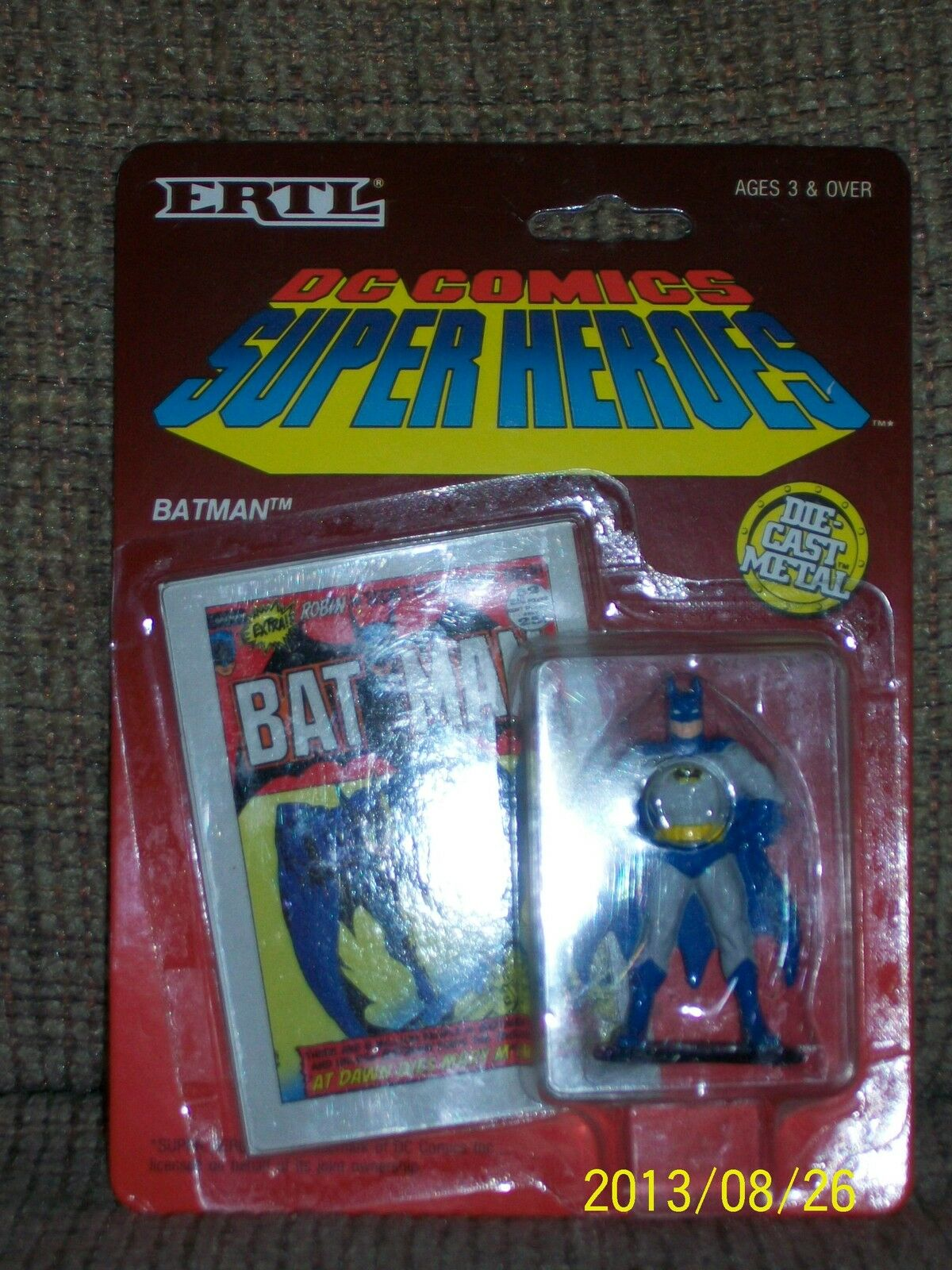 ERTL Die Cast DC Super Heroes x7, plus 1989 Batuomo movie BatuomoJoker 2pack