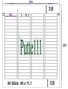 840-Klebe-Etiketten-Aufkleber-46-0-mm-x-11-1-mm-10-Bogen-Druck-Vorlage