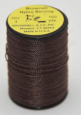Brownell #4 Nylon Peep Nock Serving Thread Brown