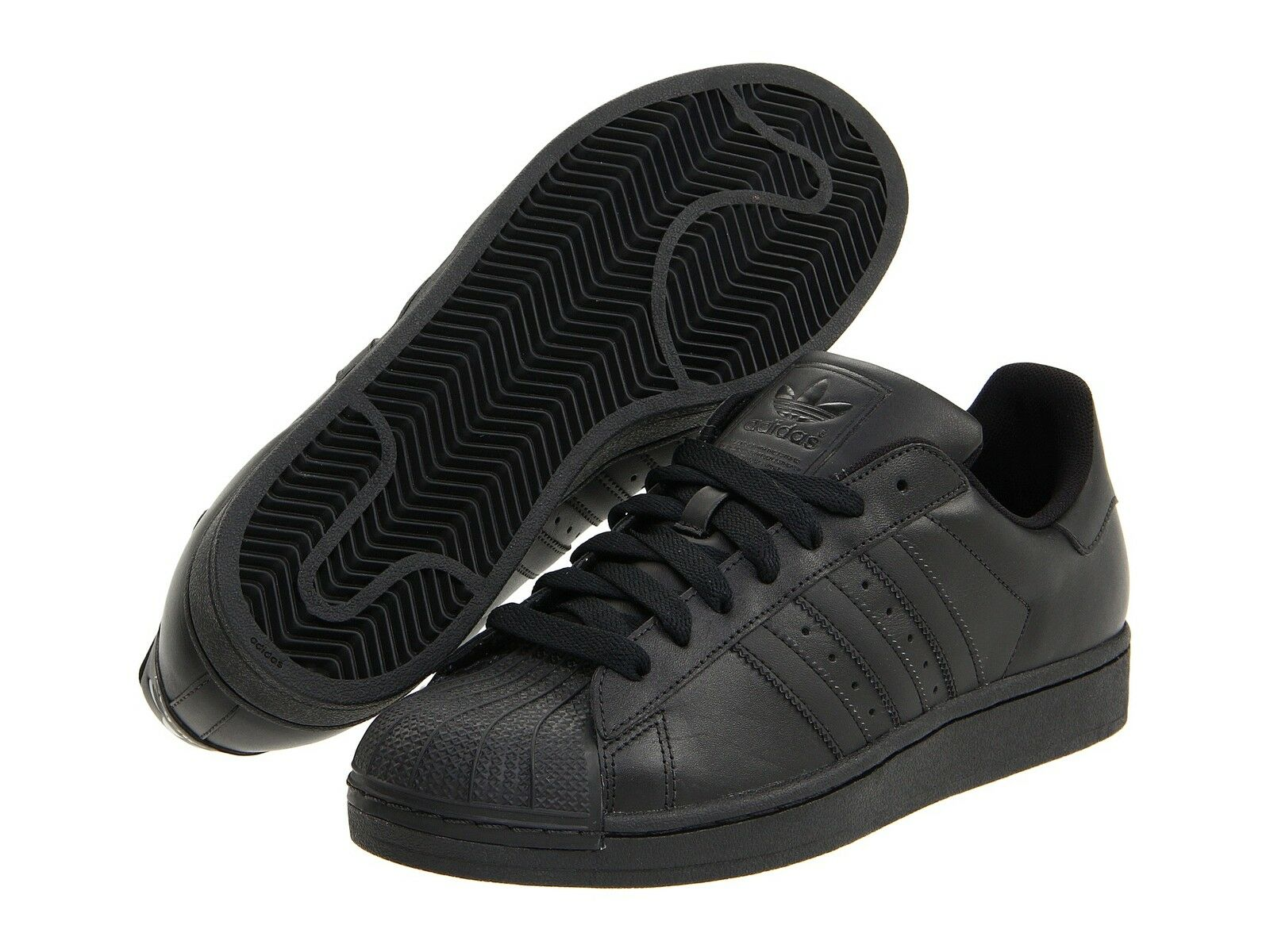 ADIDAS SUPERSTAR CASUAL 2 II ORIGINALS MEN S CASUAL SUPERSTAR BASKETBALL SHOES  ALL BLACK G14748 16f964 8be96fda1