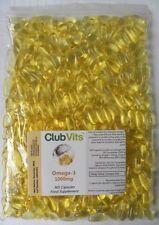 Club Vits Omega-3 Fish Oil 1000mg - 365 Capsules GSB