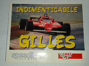 Adesivo-Sticker-INDIMENTICABILE-GILLES-Allegato-ad-Autosprint-cm-16-5-x-13-5