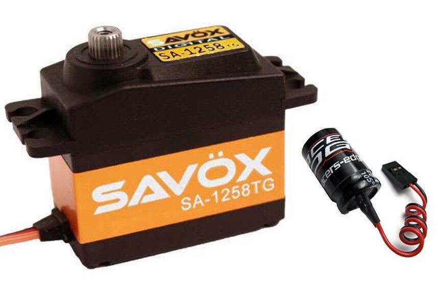 SAVOX SA-1258TG Super Speed Titanium Gear Digital Servo w  Glitch Buster