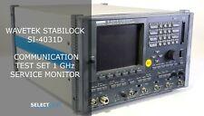 Wavetek Stabilock Si 4031d Communication Test Set 1 Ghz Service Monitor Ref G