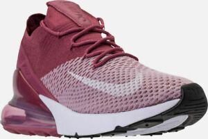 Details about Men's Nike Air Max 270 Flyknit Running Shoes Plum Fog White Sz 15 AO1023 500