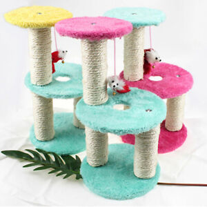 EG-Cat-Tree-House-Scratch-Toy-Mouse-Scratchers-Pet-Kitten-Jumping-Climbing-Fram