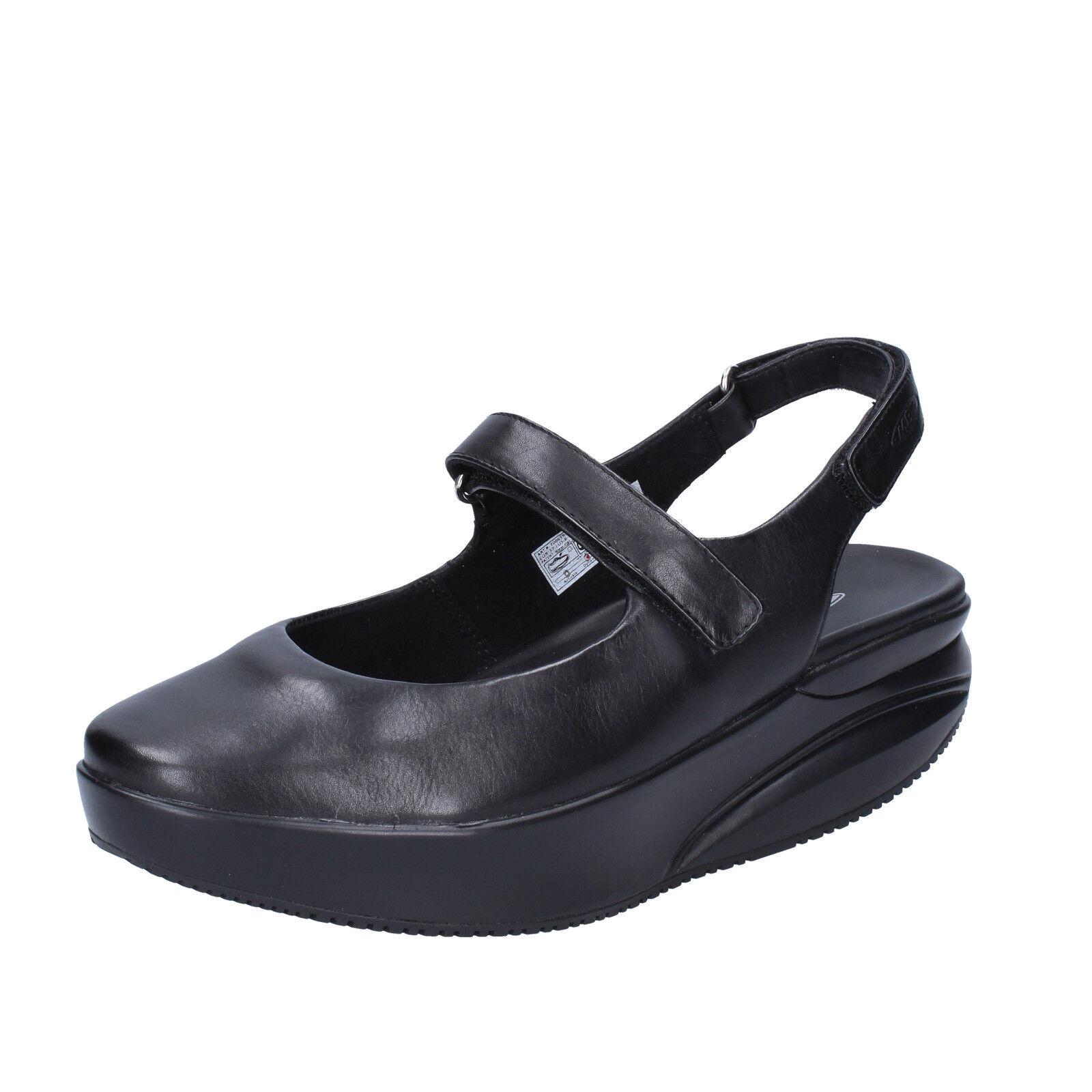 Scarpe donna MBT KOFFI 35 EU ballerine nero pelle dynamic BX889-35