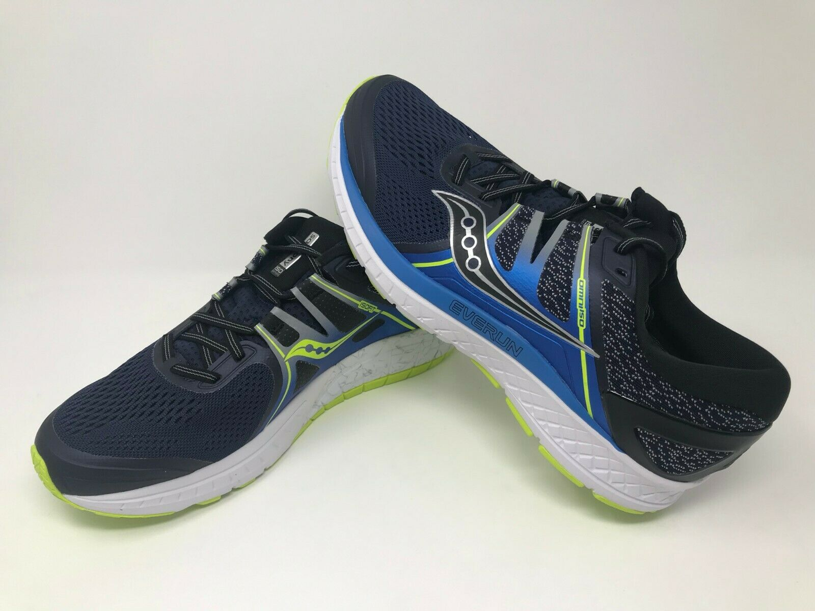 Men's Saucony Omni ISO 2E  - WIDE (navy bluee citron)  all goods are specials