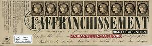 FRANCOBOLLI-FRANCIA-2019-Gomma-integra-non-linguellato-CERES-NOIRE-1849-Marianne-l-039-engagee-14v