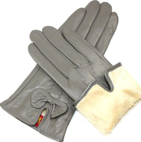 Damen  Echt Leder Handschuhe Gefüttert  Gr  S   M   L   XL   XXL   //P//16