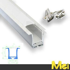 Barra Profilo Alluminio Da Incasso Per Cartongesso Doppia Per