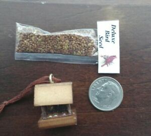 Dollhouse Miniature Filled Bag of Deluxe Bird Seed  for 1:12 Doll House Garden