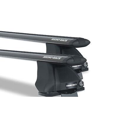 Rhino Pair of Vortex Roof Racks ISUZU DMax Dual Cab 2012 onwards Black