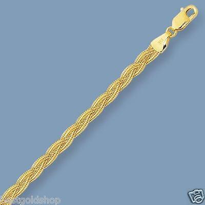 Diamond Cut Braided Fox Link Anklet Ankle Bracelet Real 14K White Gold 3.10gr