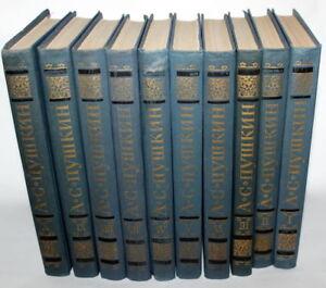 1981-10-volumes-Alexander-Pushkin-book-USSR-Soviet-Russian-set-of-works
