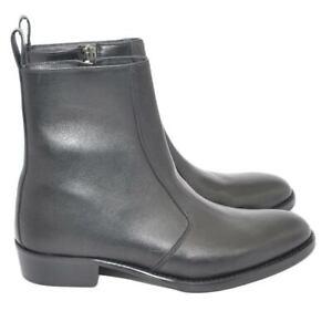 Camperos stivali uomo ls luisantiago in vera pelle di nappa nero linea zip lux f