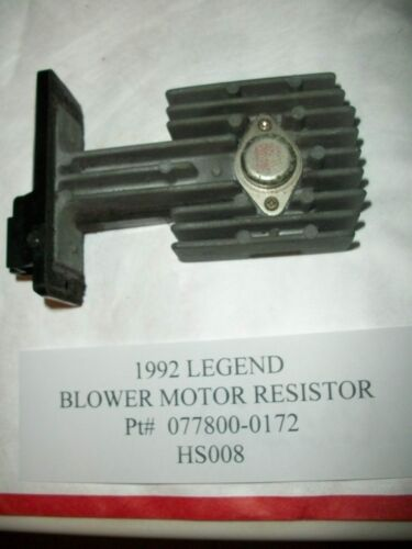 1992 ACURA LEGEND BLOWER MOTOR SPEED TRANSISTOR RESISTOR HEAT 077800-0172 #HS008