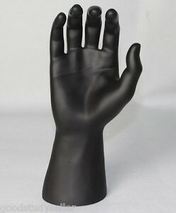 PU-Black-Male-Mannequin-Right-Hand-For-Jewellery-Rings-Gloves-Bracelet-Watches