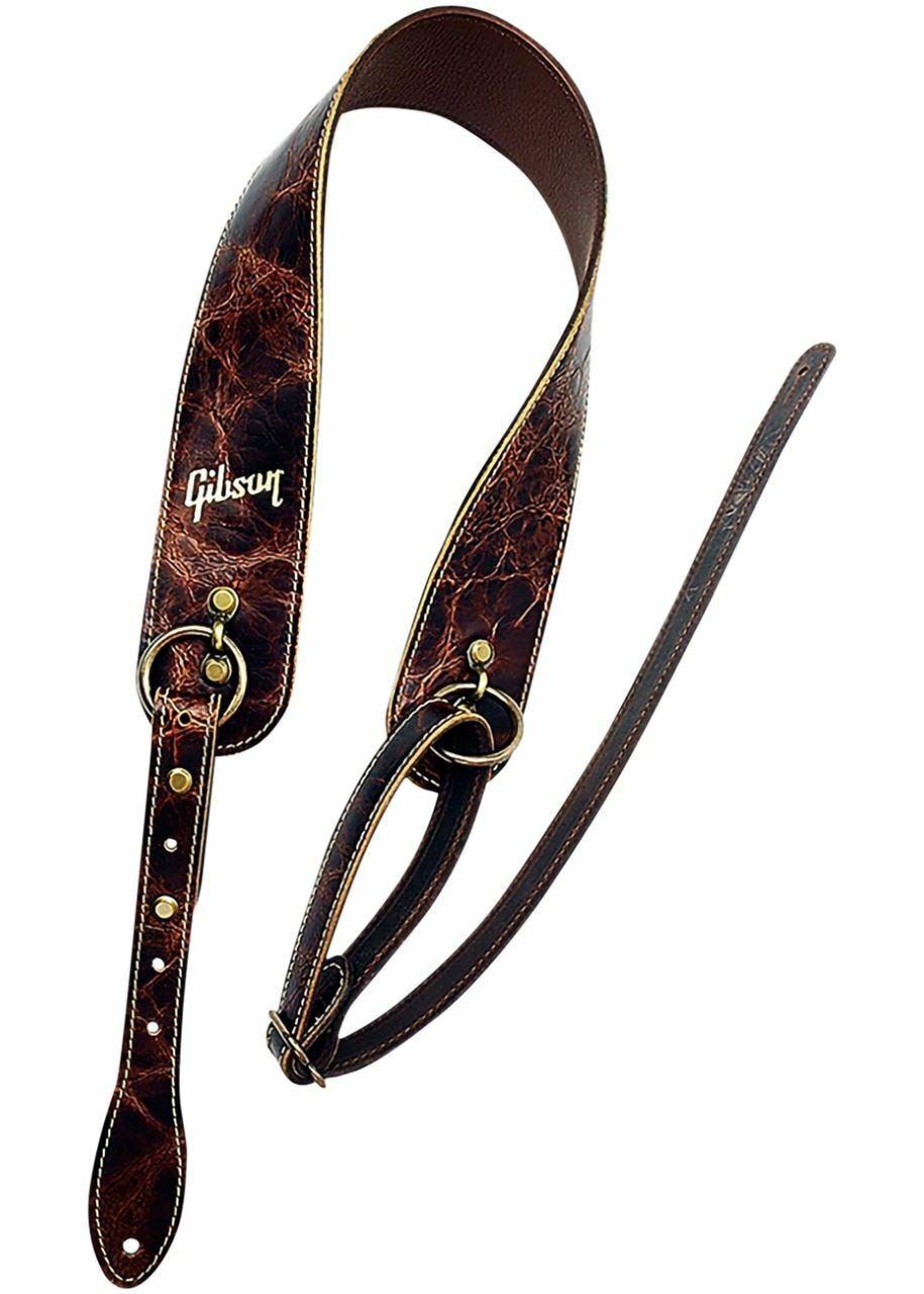 Gibson Die Vintage Saddle Guitar Strap braun