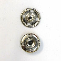Sew-on Snaps Fasteners Size:12mm 144 Sets Package, Color: Silver