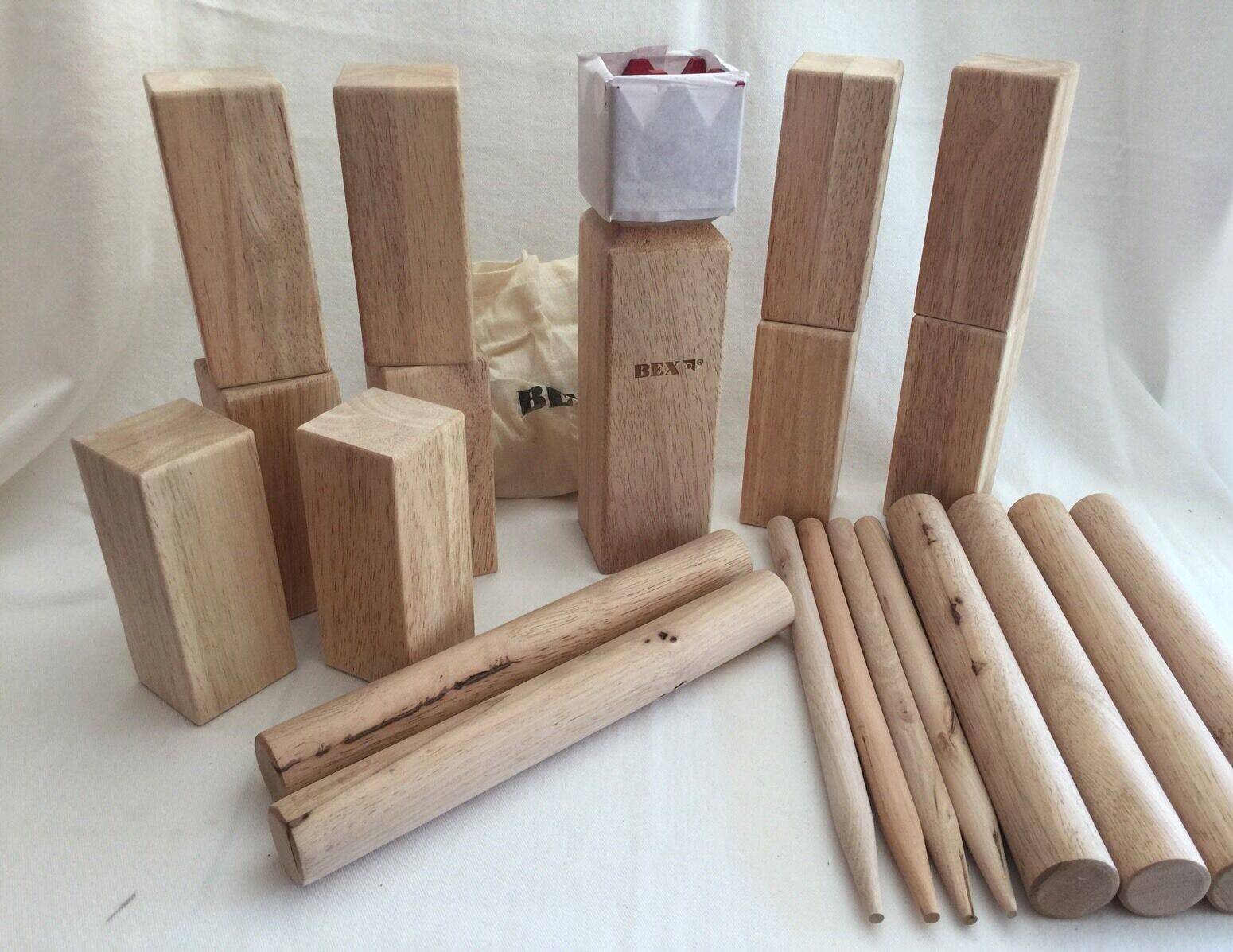 Kubb Original BEX Ancient Game of Skill Lawn Wooden  Wood  high-quality merchandise and convenient, honest service