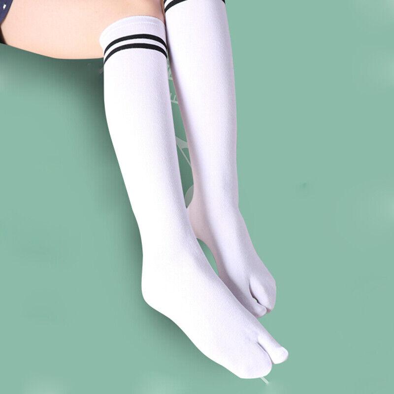 2 Paar Damen Mädchen Split Zwei Zehen Socken Japanisch Geta Tabi Schule Students