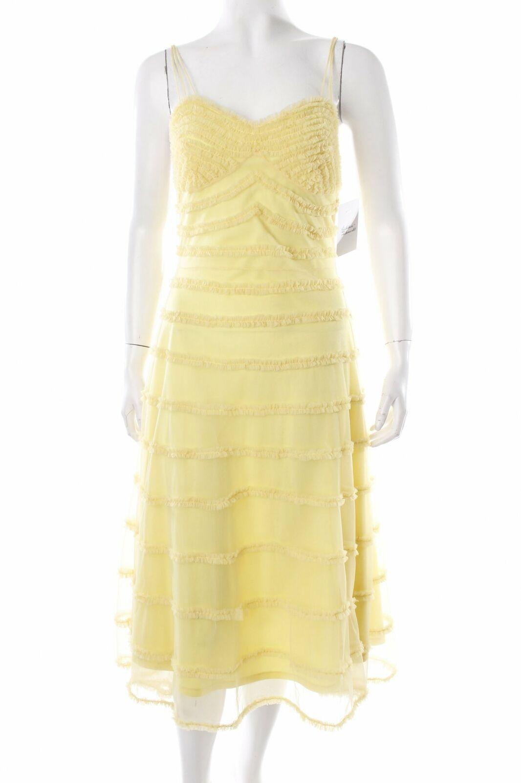 BETSEY JOHNSON Betsy Johnson Cocktailkleid gelb extravaganter Stil Damen Kleid