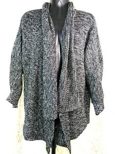 2743720a80f Image is loading Chaus-Womens-M-dolman-sleeve-cardigan-sweater-waterfall-