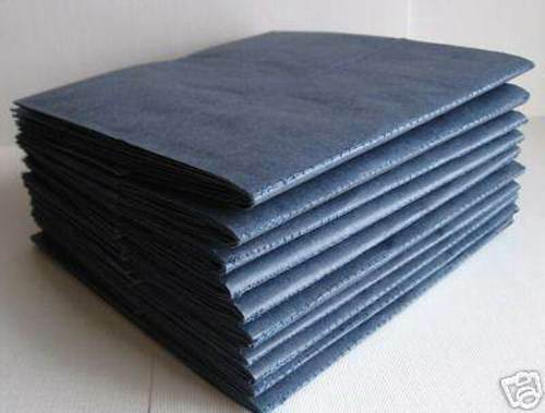 10 books 6X6 SEWN NAVY paper bag scrapbook album journal lot