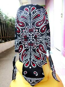 5-PIECES-MOTORCYCLE-DRESS-HAIR-SCARF-WRAP-BIKER-PAISLEY-HEAD-COVER-MEN-RIDE-FREE