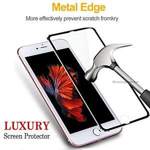 Protector-de-Pantalla-de-Vidrio-Templado-para-Apple-iPhone-6S-amp-6-100-Autentico-De-Metal