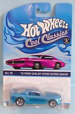 2957 HOT WHEELS / CARTE US / COOL CLASSICS / FORD SHELBY GT500 SUPER SNAKE 1/64
